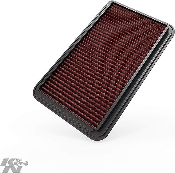 K&N 33-2260 Filtro de Aire Coche, Lavable y Reutilizable: Amazon ...