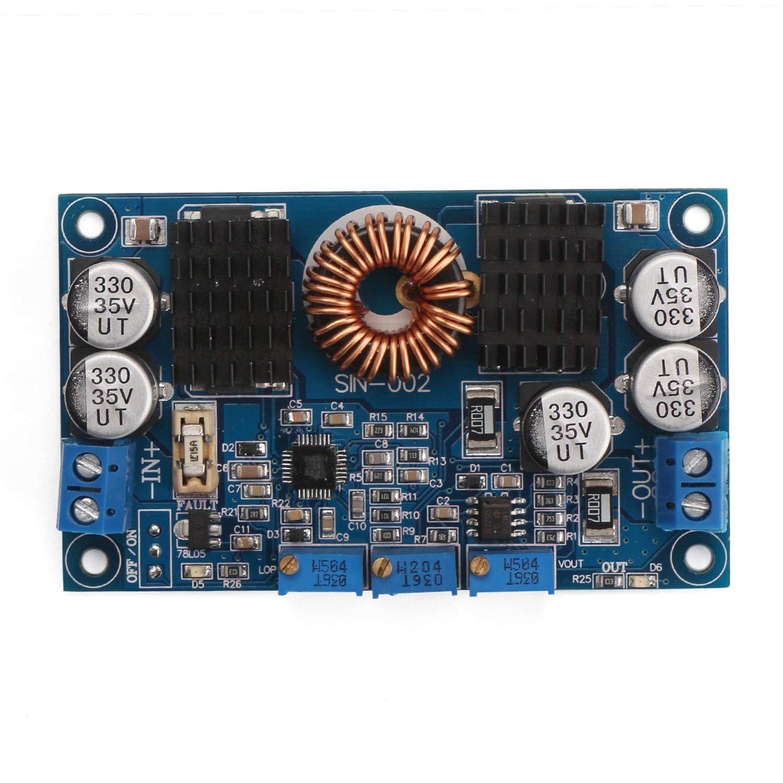 WINGONEER DC Buck Boost Converter Module Power Supply 80W 12V 24V Voltage Regulator Input 5-32V Output 1-30V Adjustable Voltage Converter Constant Volt Amp for Battery Charging Solar Energy LED Driver