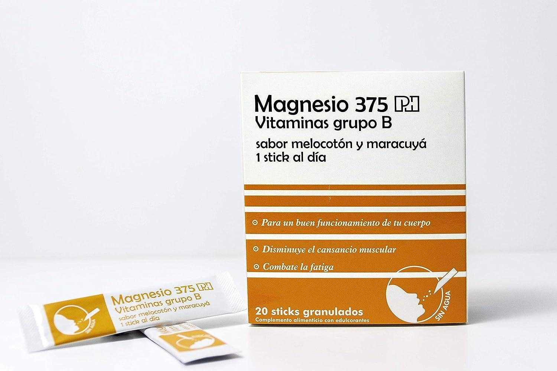 PHARMINICIO - Magnesio 375 PH Vitaminas grupo B, 20 Sticks: Amazon.es: Salud y cuidado personal