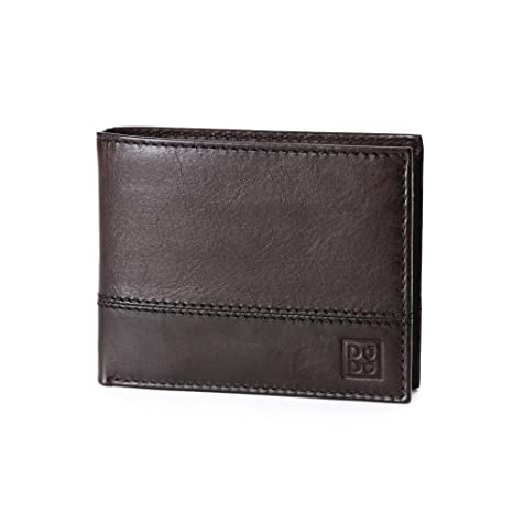 d94e3627fc62 Amazon.com  Leather wallet with coin pocket and credit card holder   ID  window DUDU Dark Brown