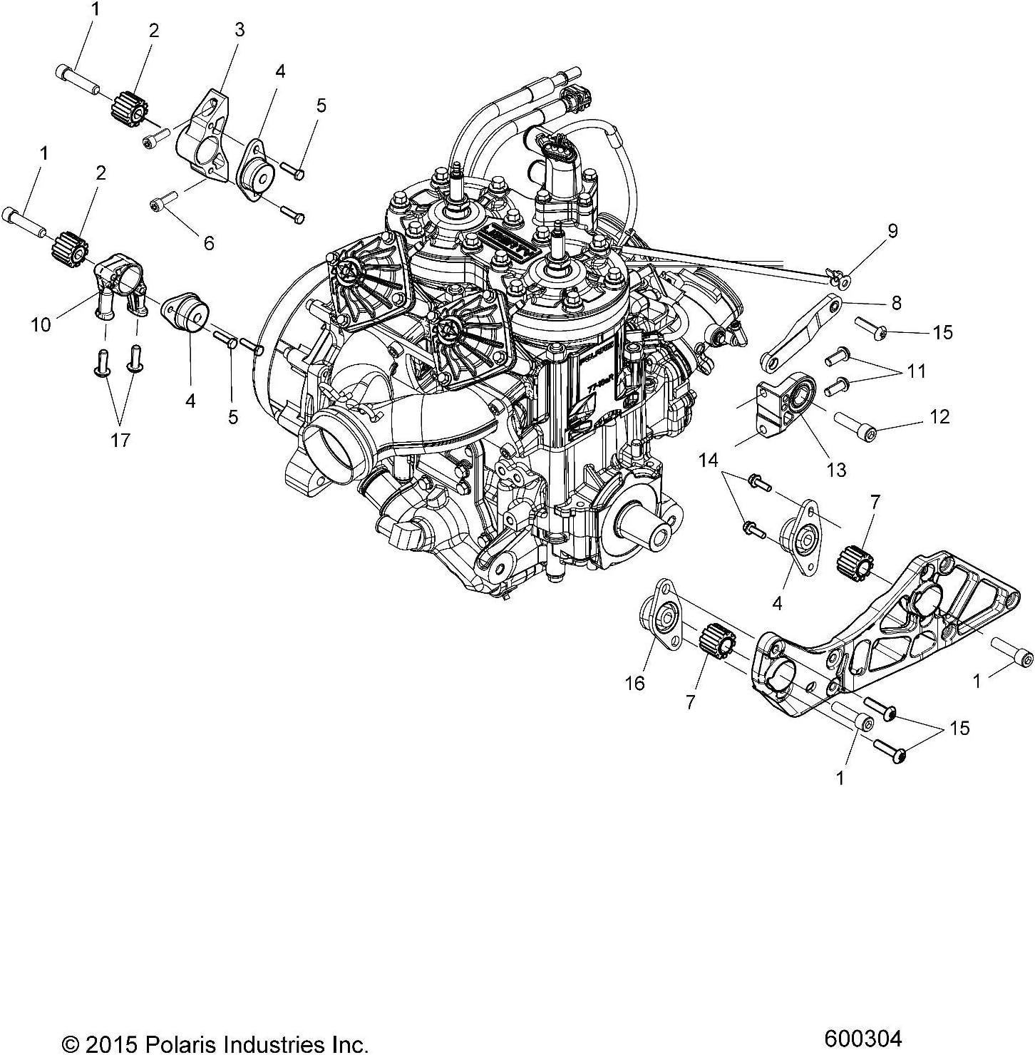 polaris engine diagram amazon com polaris engine mount insert rad mag  genuine oem part  amazon com polaris engine mount insert