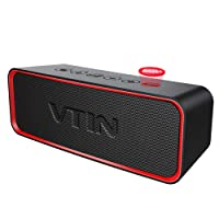 Bluetooth 4.2 Speaker, VTIN Wireless Portable Outdoor Speaker with Exclusive Bold Bass+ Tech, Superior Sound, IPX6 Waterproof, 12+ Hrs Playtime, Bulit-in Mic for Echo Dot iPhone Android Samsung Phone