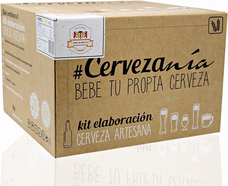 Cervezanía - Kit de elaboración de cerveza artesana Tripel Blonde Ale | Con levadura belga de abadía: Amazon.es: Alimentación y bebidas