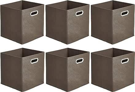 AmazonBasics - Cajas de almacenamiento de tela, con forma