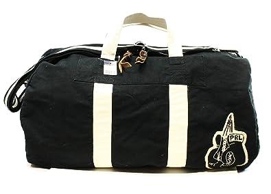 Amazon.com  Polo Ralph Lauren Canvas Boxing Duffel Bag Black  Shoes 7a26d677c04a8