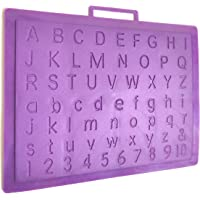 90 Degree® Multipurpose Alphabets/Numbers Writing for Practice and Handwriting Improvement Plastic Board Slate (1 pc) (English Small/Capital Alphabets with 1-10)