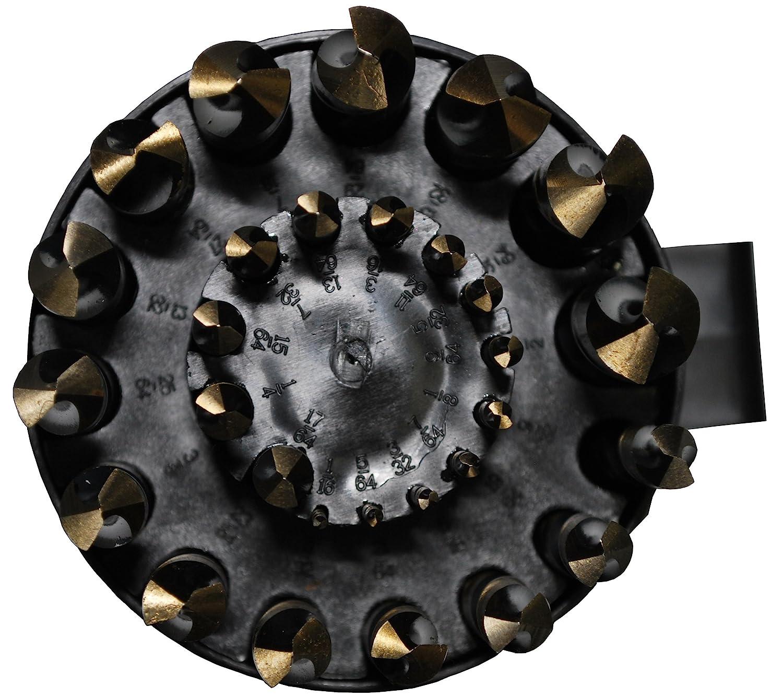 DWDN Series 1//16-1//2 X 64ths Drill America 29 Piece High Speed Steel Drill Bit Set in Round Case