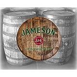 Rustic Home Bar Decor Jameson Irish Whiskey Barrel Lid Wood Wall Art