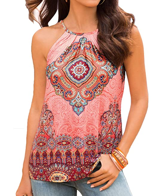 e6e676465957d Image Unavailable. Image not available for. Colour  YOINS Women Tank Tops  Summer Casual Cami Tops Sexy Sleeveless Round Neck ...