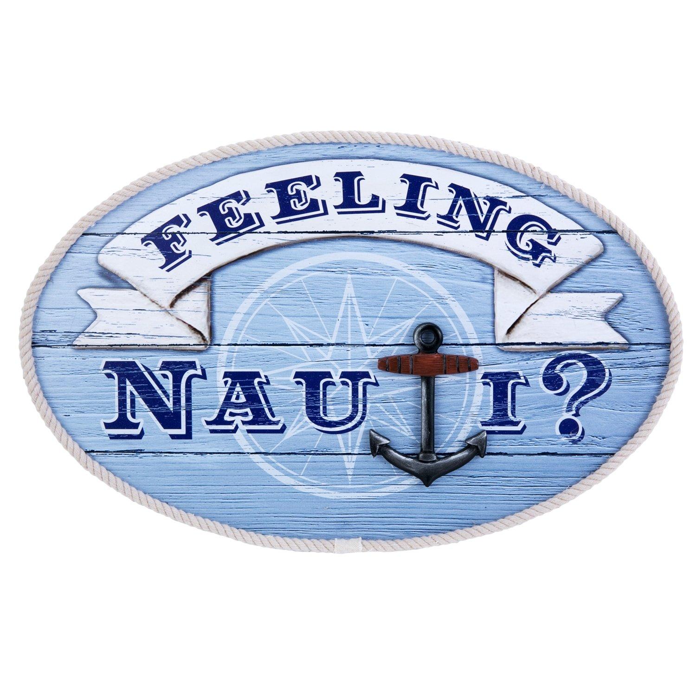 Beachcombers SS-BCS-20041 Round Feeling Nauti Sign