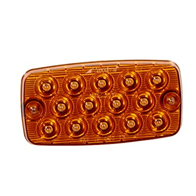 "Maxxima M42206Y 14 LED Amber Ultra Thin 0.4"" Low Profile Park/Rear/Turn Light: Automotive"