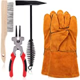 Swpeet 5Pcs 10 Inch Scratch Wire Brush Welding Hammers Slag Removal Tool with Welding Gloves, 8 Inch Welding Plier and…