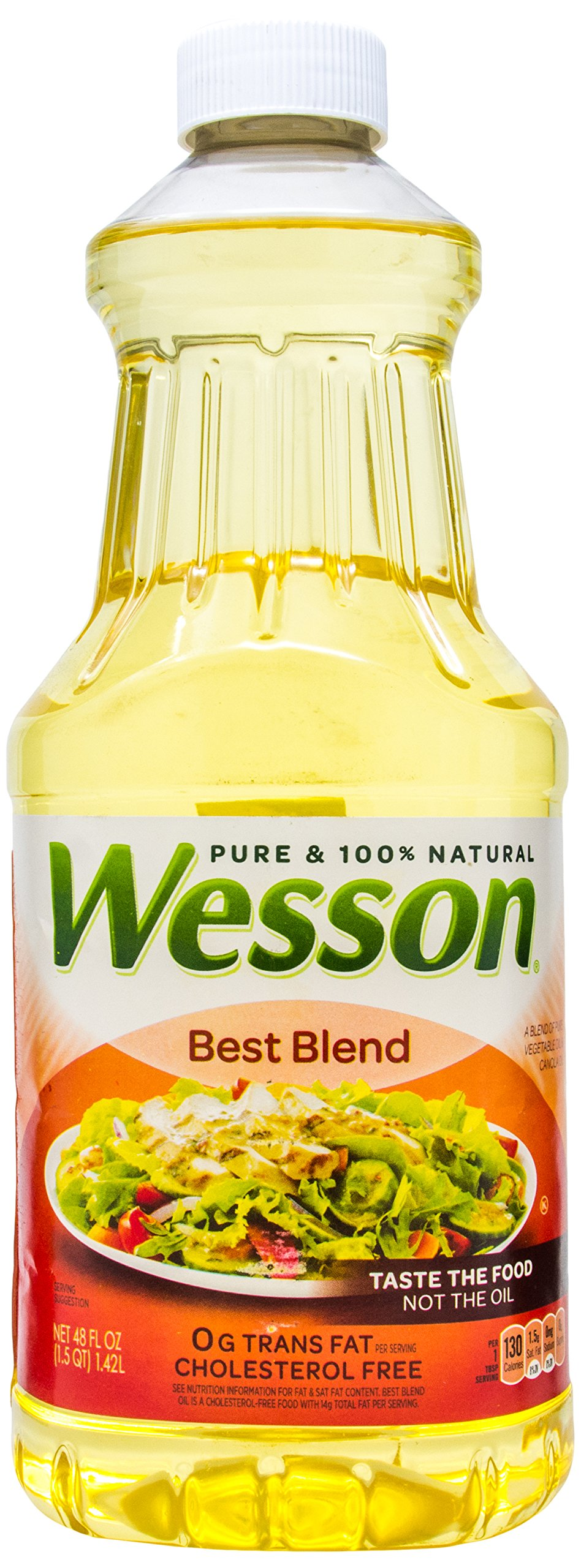 Wesson Best Blend Pure 100% Natural Vegetable And Canola Oils, 48 oz