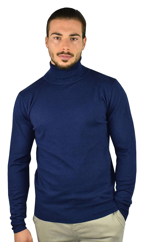 1stAmerican Maglia Dolcevita in Cashmere e Seta da Uomo Manica Lunga Pullover Invernale con Collo Alto Finezza 14