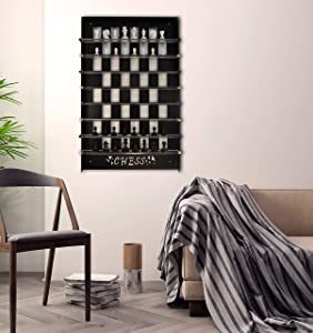 Tubibu Unique Wall Game Chess Set, Extraordinary Gift, Wall Decor, Wall Art, Wall Decor