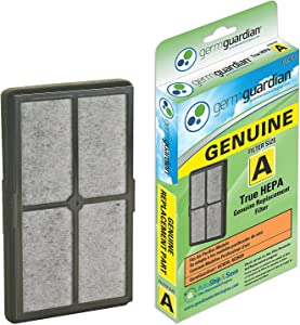 Guardian Technologies FLT4010 Genuine High-Performance Allergen Air Purifier Replacement Filter A With Activated Charcoal Layer for Germguardian Purifier Ac4010, Ac4020 & More, Grey