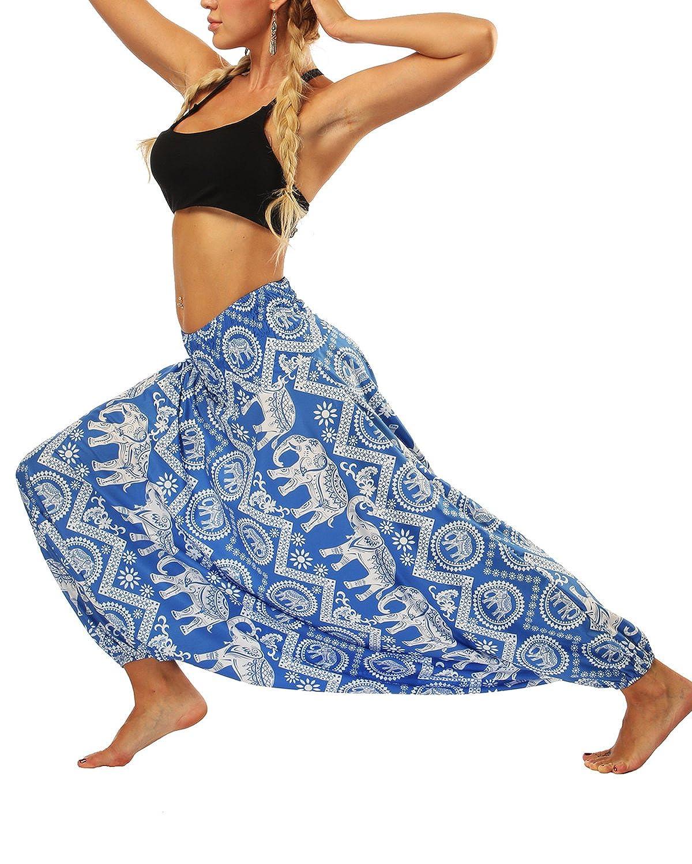 LVCBL Harem Pants Women's Hippie Bohemian Yoga Aladdin Pants Jumpsuit LVCBL-CLN000922-CA