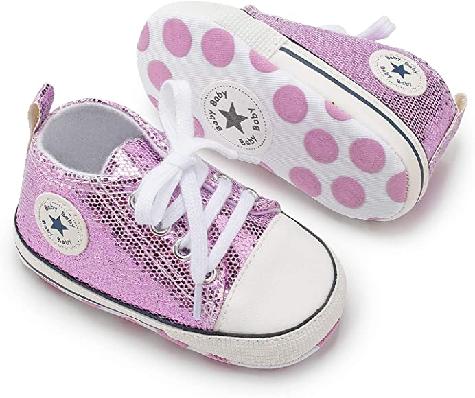 Infant Toddler First Walker Crib Shoes
