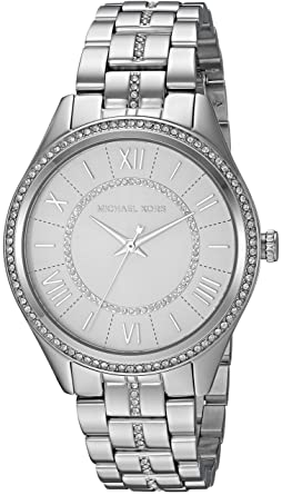 370d077a1da9 Amazon.com: Michael Kors Women's Lauryn Quartz Watch with Stainless-Steel  Strap, Silver, 18 (Model: MK3718: Michael Kors: Watches