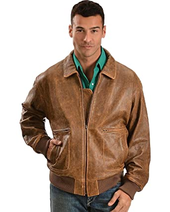 Scully Men's Lambskin Bomber Jacket at Amazon Men's Clothing store ...