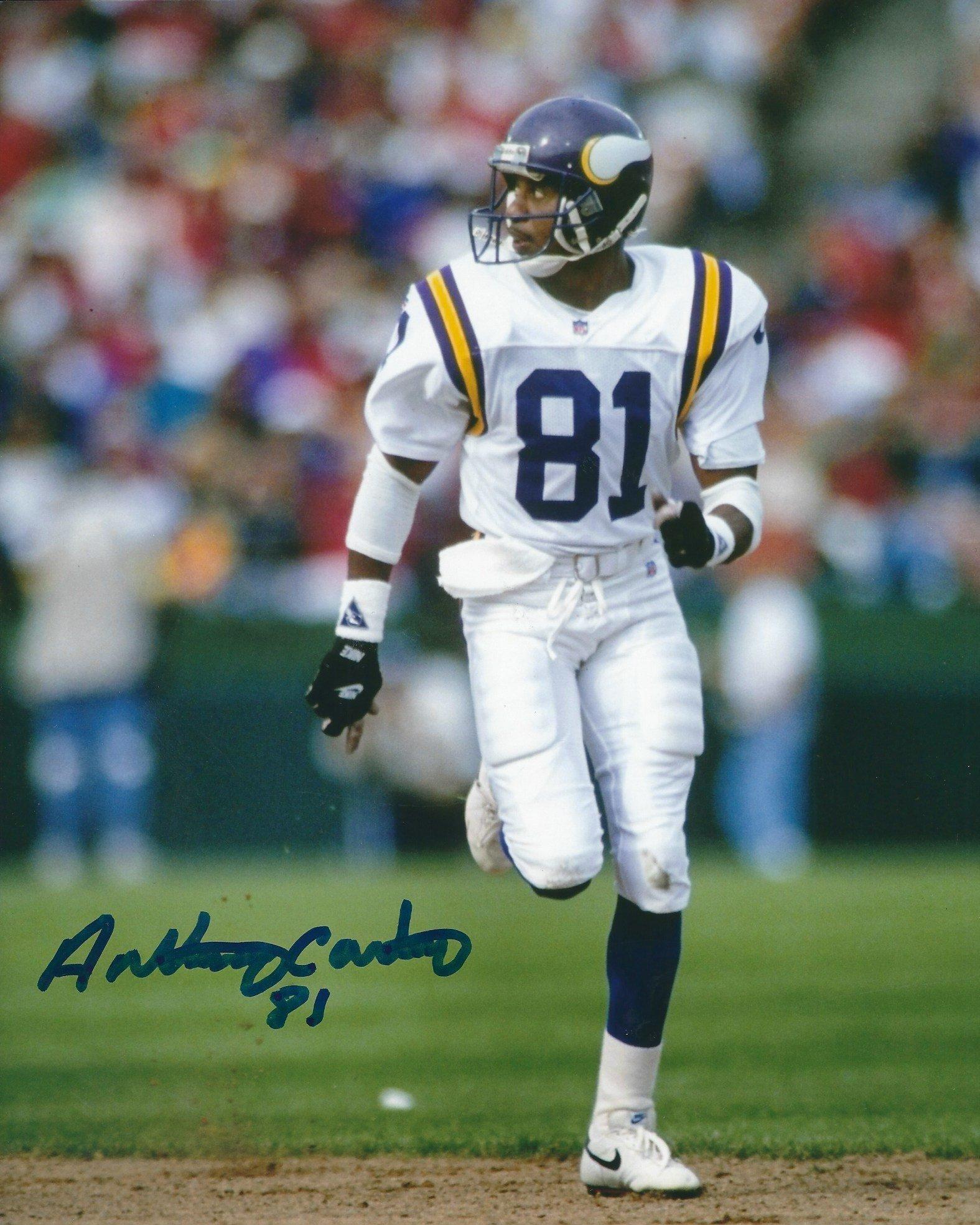 Autographed Anthony Carter 8x10 Minnesota Vikings Photo