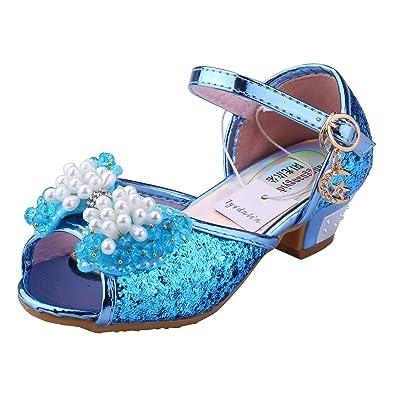Di Cuoio Ballerine Scarpe Principessa Costume Tyidalin Ragazze Tacco FwA1E
