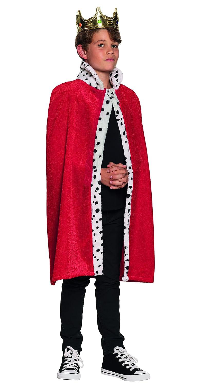 Boland, 36100, königlicher Umhang für Jungen, rot Ragazzo (80 cm) rot