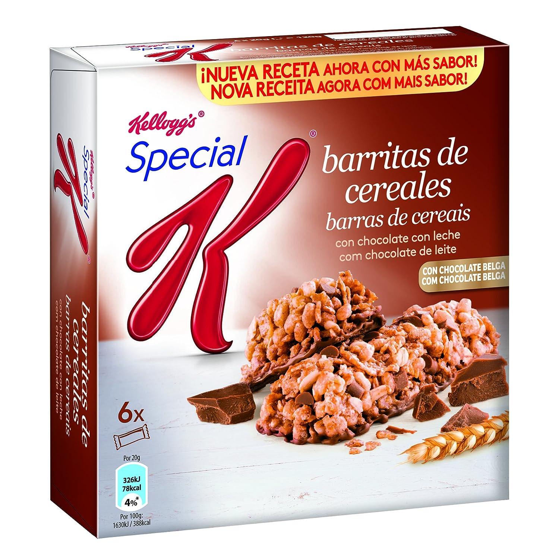 Special K Barrita de Cereales Chocolate con Leche - Pack de 6 x 20 g -