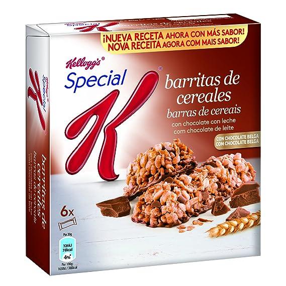 Special K - Barrita De Cereales Chocolate Con Leche, 6 x 20 g - [