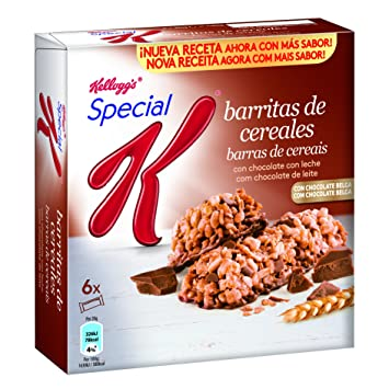 Special K Barrita de Cereales Chocolate con Leche - Pack de 6 x 20 g - Total: 120 g: Amazon.es: Amazon Pantry