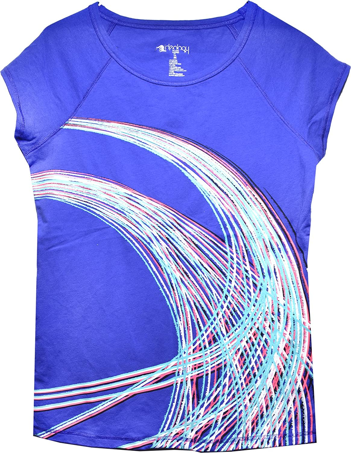 Ideology Women's Short-Sleeve Graphic-Print T-Shirt Top (Med) Purple
