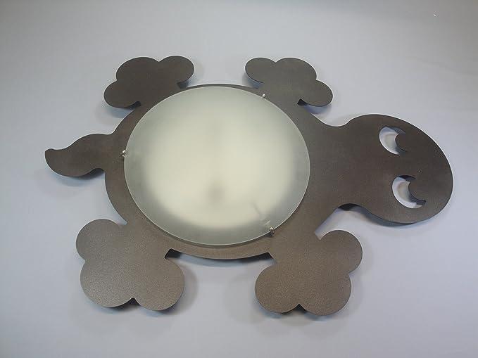 Plafoniera Da Esterno Tartaruga : Plafoniera o applique tartaruga in color ruggine marrone scuro