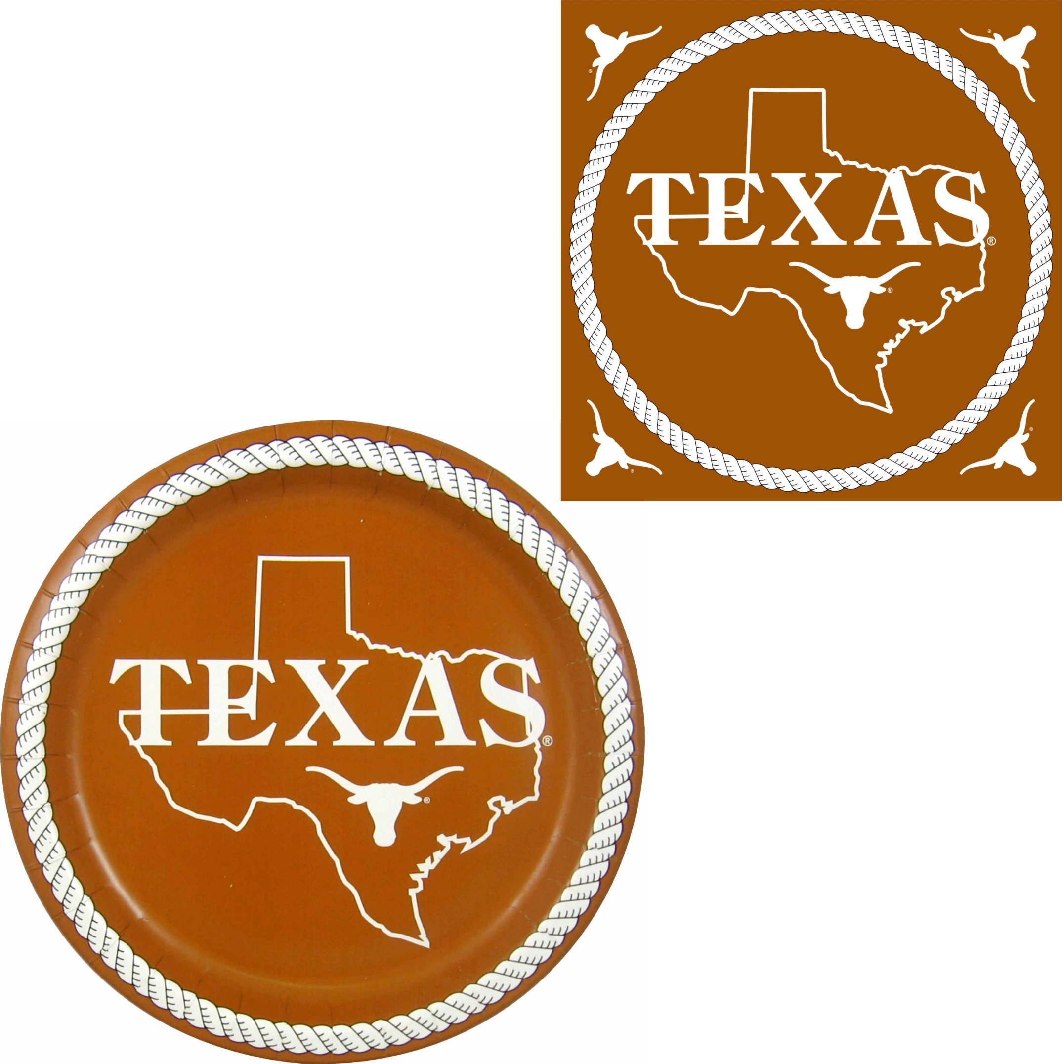 Westrick Texas Longhorns Napkins & Plates - 64 pieces