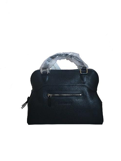 Longchamp Veau Foulonne Handbag, Black/Nickel, OS