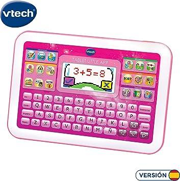 VTech Little App Tableta educativa Infantil, Pantalla LCD a Color, Juguete para aprender en casa,Contenido Especial para niños, enseña destrezas