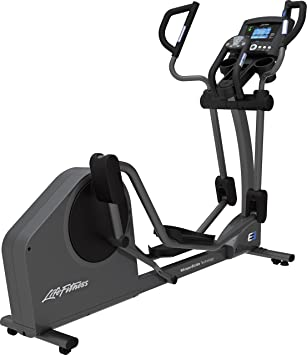 Life Fitness E3 Go cross-trainer, titanio