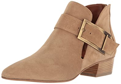 Aquatalia by Marvin K. Women's Filomena Suede Ankle Bootie, Sand, ...