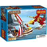 COGO 70 Pieces Brick Bounty Dragon Pirate Ship With Skeleton Flag Mysterious Corsair of the Caribbean CG3100