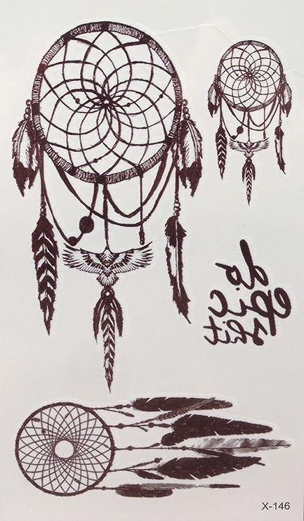 Atrapasueños ancla Forever algodón Trébol Negro Fake Tattoo Set E ...