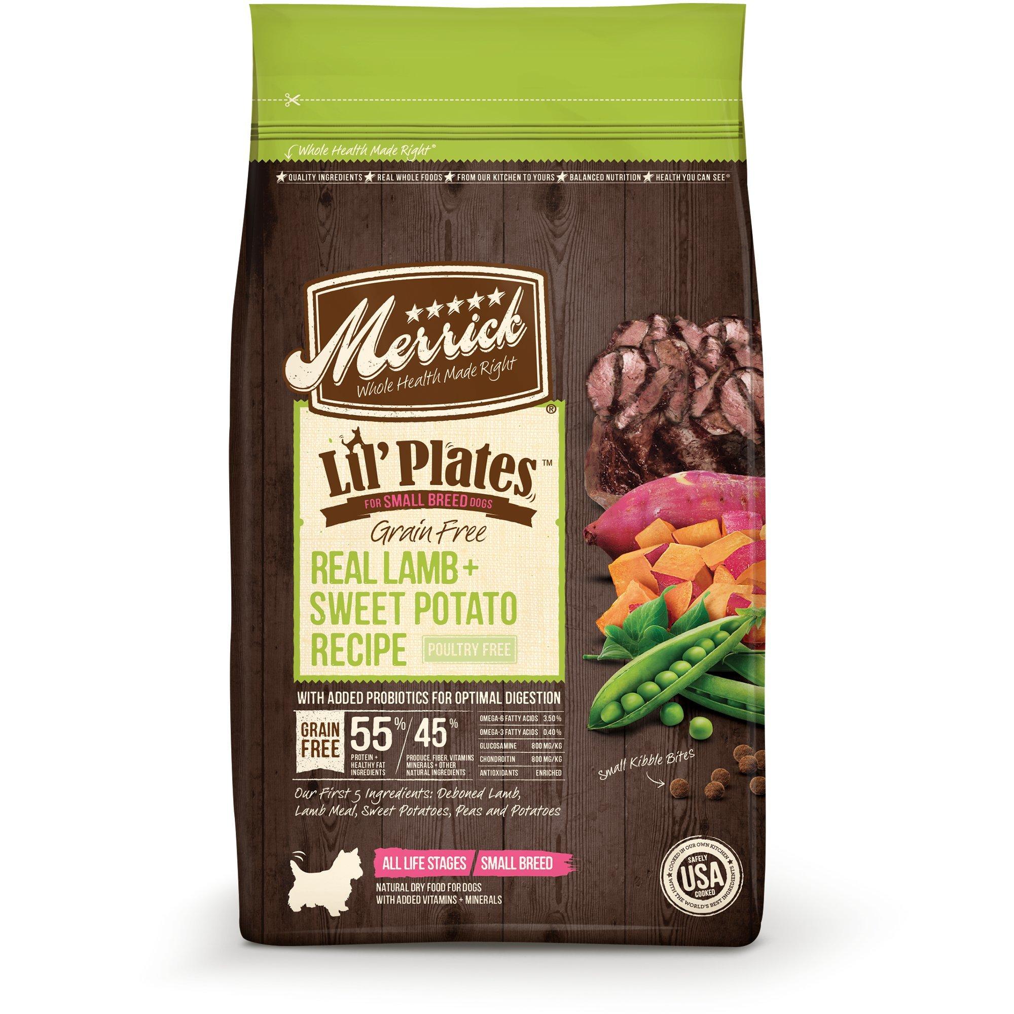 Merrick Lil' Plates Grain Free Real Lamb + Sweet Potato Small Breed Dry Dog Food, 4 lbs.