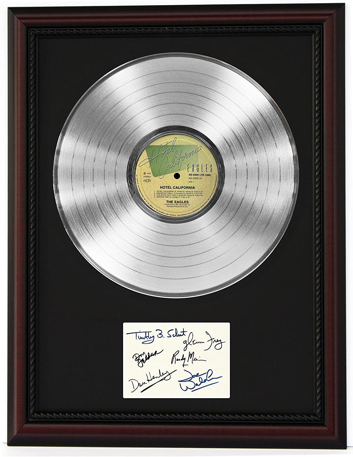 Eagles Cherrywood Framed Platinum Lp Ltd Signature Display C3