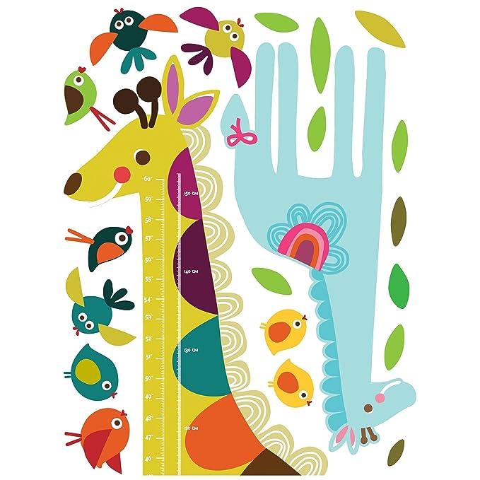 Amazon.com: Wallies Wall Decals, Giraffe Growth Chart Wall Sticker ...