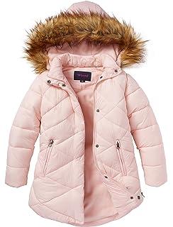 7d359383c Amazon.com: M2C Girls Faux Fur Hooded Long Puffer Duck Down Jacket ...