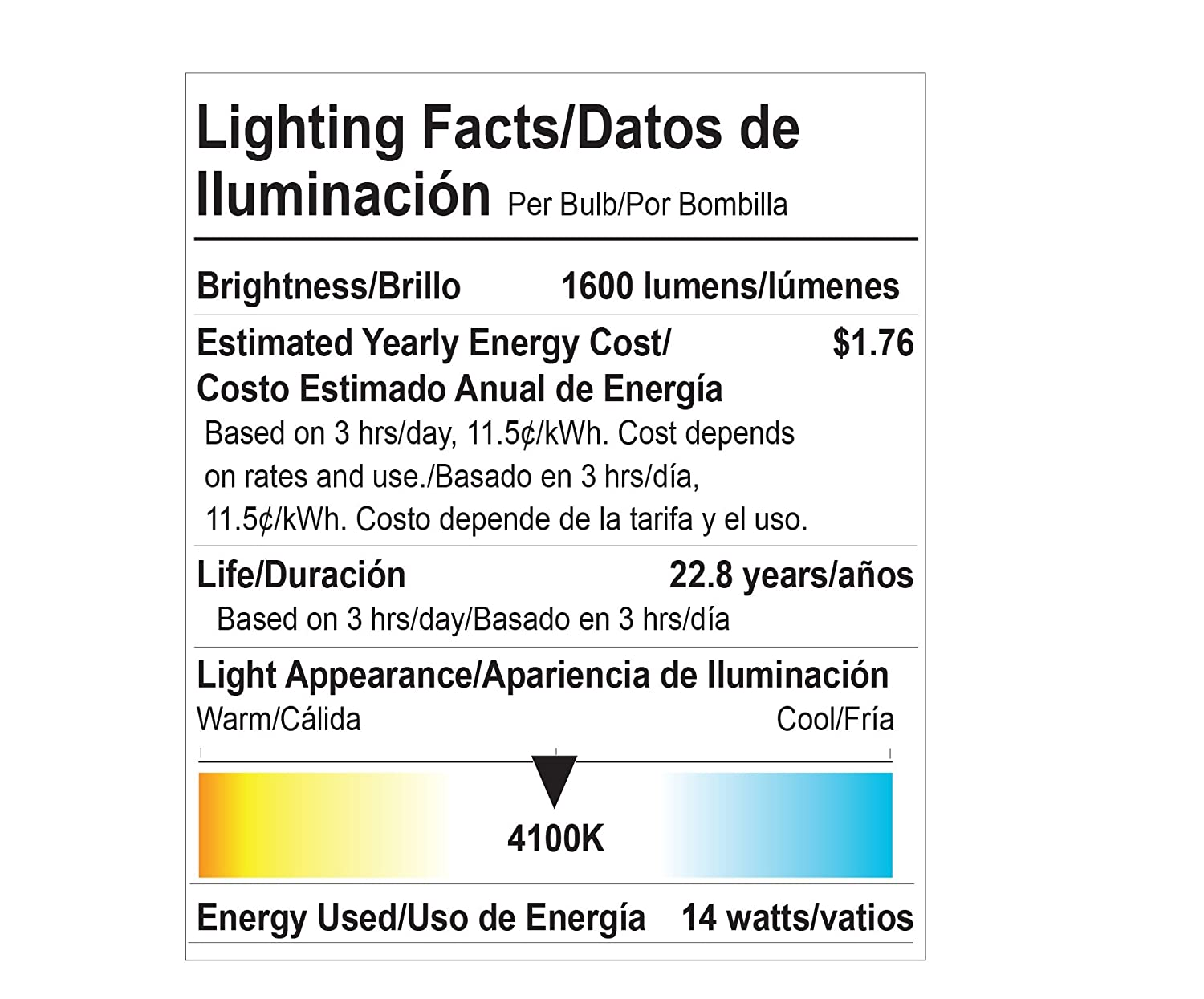 Goodlite G-83440 Omni Directional 300 degree 14W 100W Equivalent A19 3000K Dimmable LED Light Bulb, Warm White - - Amazon.com