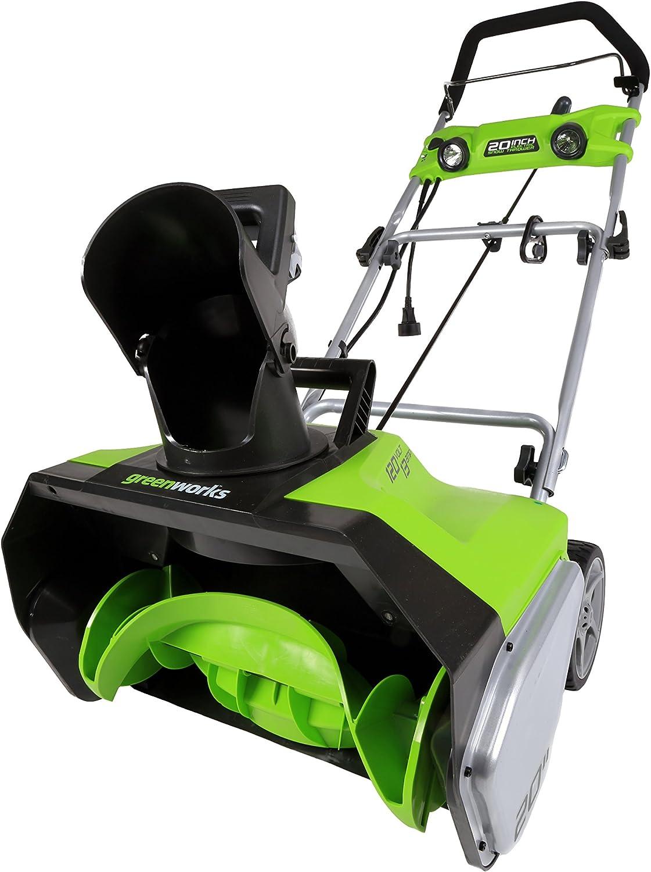 "Greenworks 2600202 20"" Electric Snowthrower, 13 Amp Light Kit"