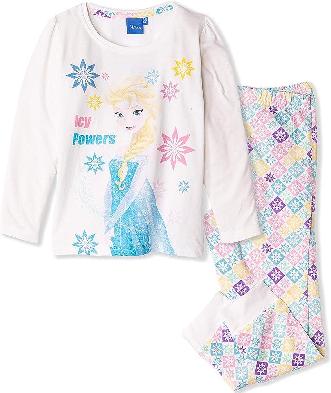Disney - Pijama de algodón para niñas con diseño de Elsa de Frozen de 3 a 9 años: Amazon.es: Ropa y accesorios