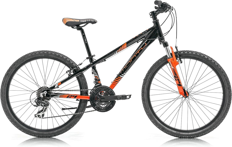 Monty KY7 Bicicleta, Niños, Negro/Naranja, Talla Única: Amazon.es: Deportes y aire libre