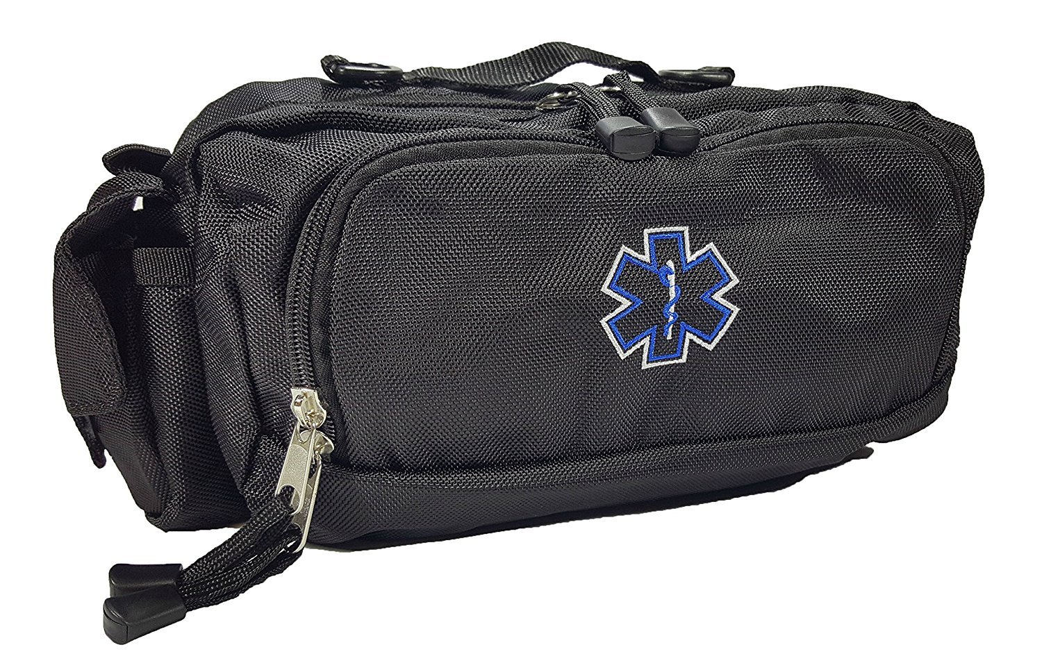 LINE2design Deluxe First Aid, First Responder Fanny Pack Large EMS, EMT, Paramedic Fanny Pack, With Multiple Internal Pockets Bag - Black