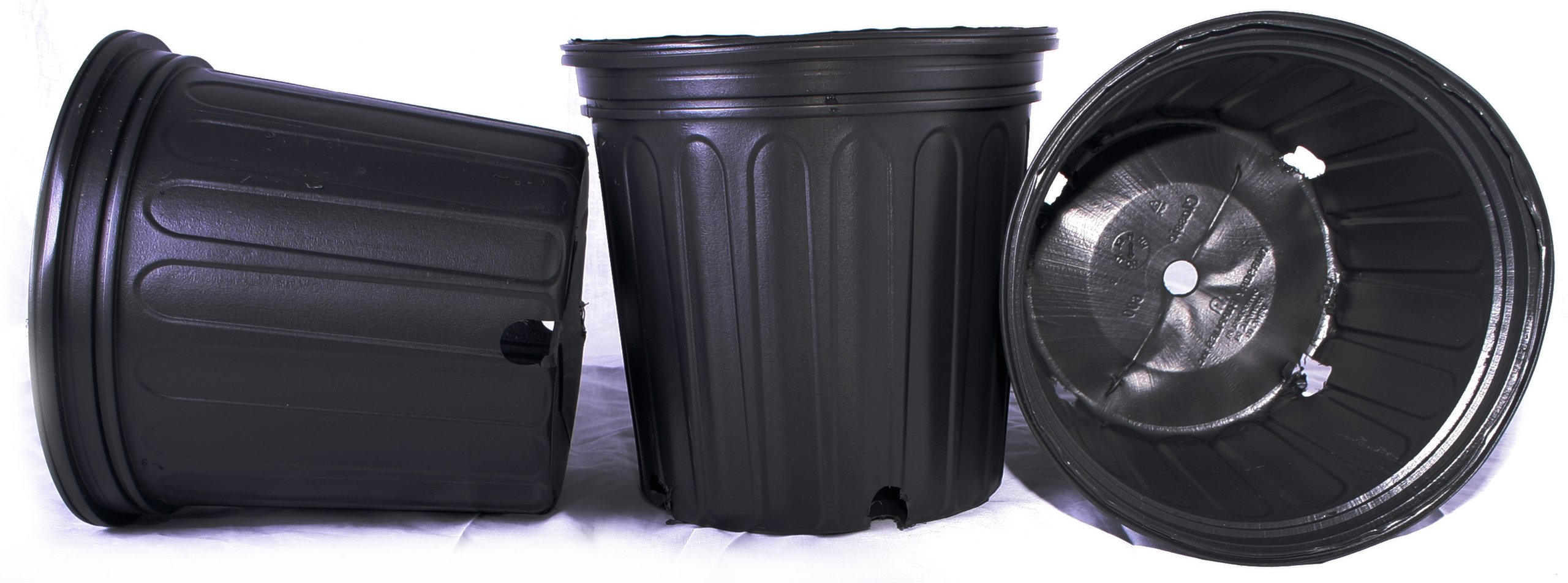 100 NEW Plastic Nursery 2 Gallon Trade POT ~ Actual Volume: 1.593 Gallons