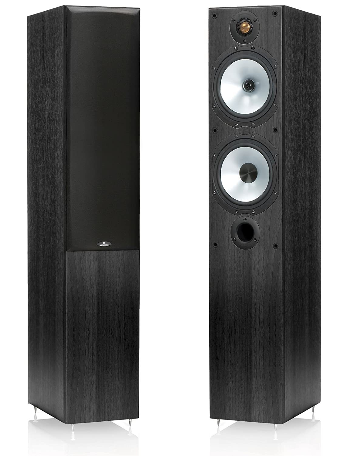Monitor Audio MR4 150W Negro Altavoz - Altavoces (Set de Altavoces, 2.0 Canales, Piso, 16,5 cm (6.5